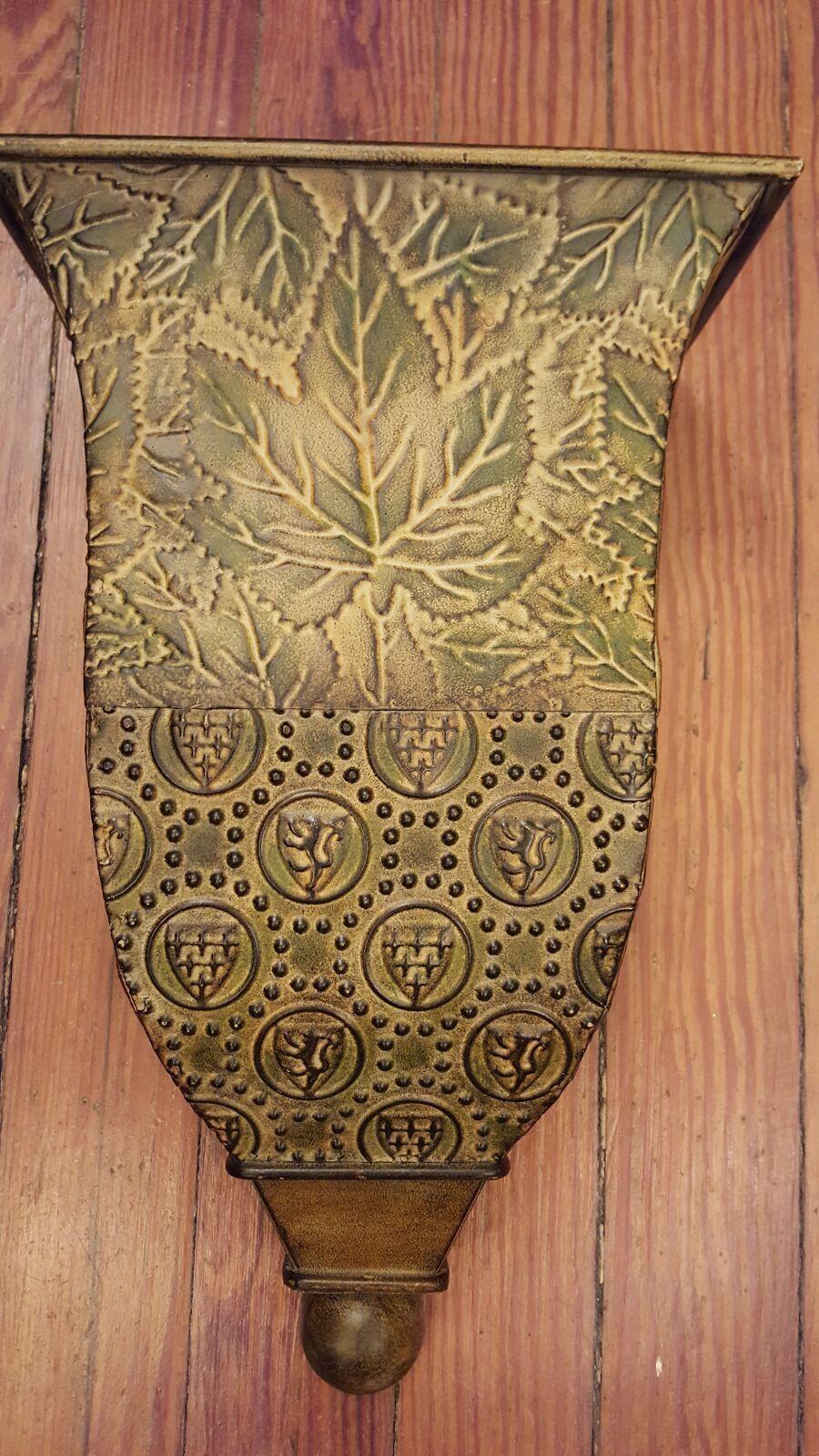 Extra Large metal wall sconce flower vase, Leaf design ... on Pocket Wall Sconce For Flowers id=48691