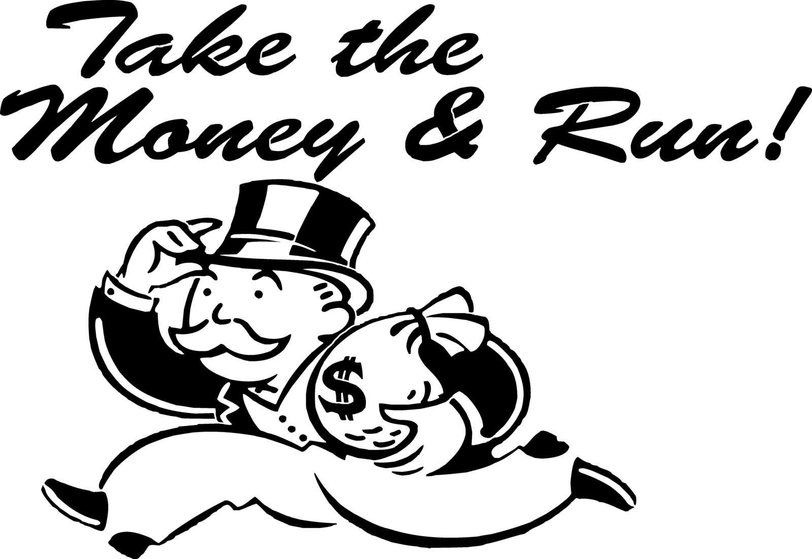 Take The Money And Run Monopoly Mr Moneybags And 50
