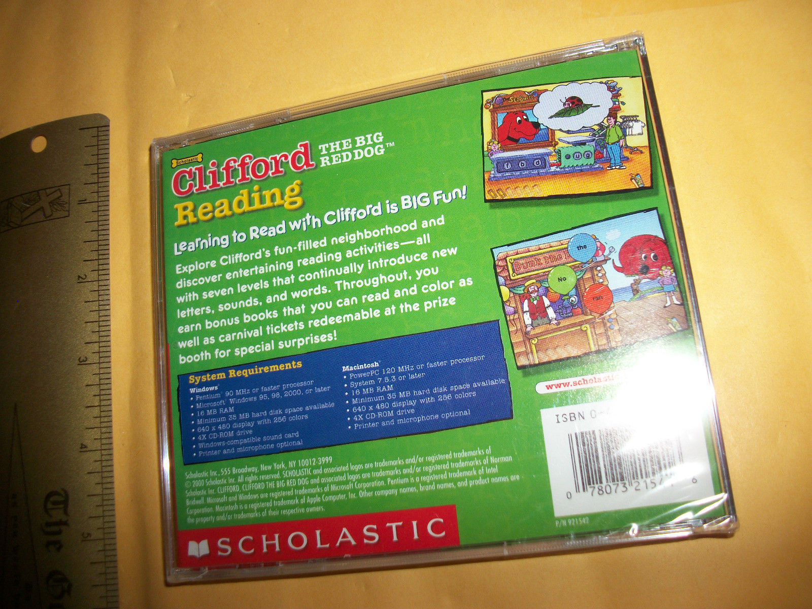 Clifford Big Red Dog Cd Rom Scholastic Reading Pc Word