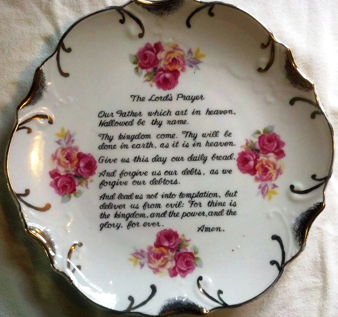 The Lord S Prayer Vintage Decorative Wall Plaque Plate W