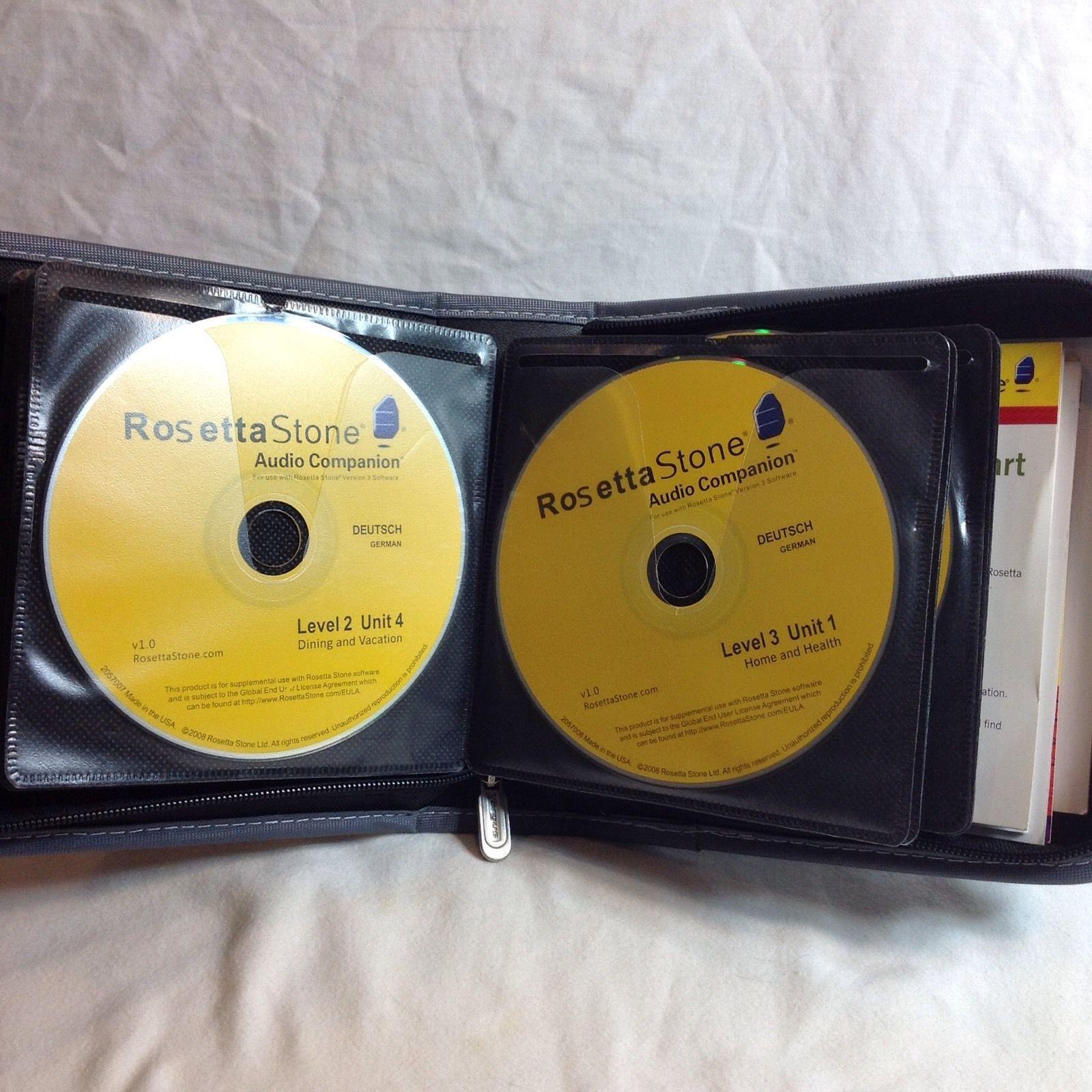 Rosetta Stone German Version3 Language Software Education Cd Rom Levels 1 5 Used