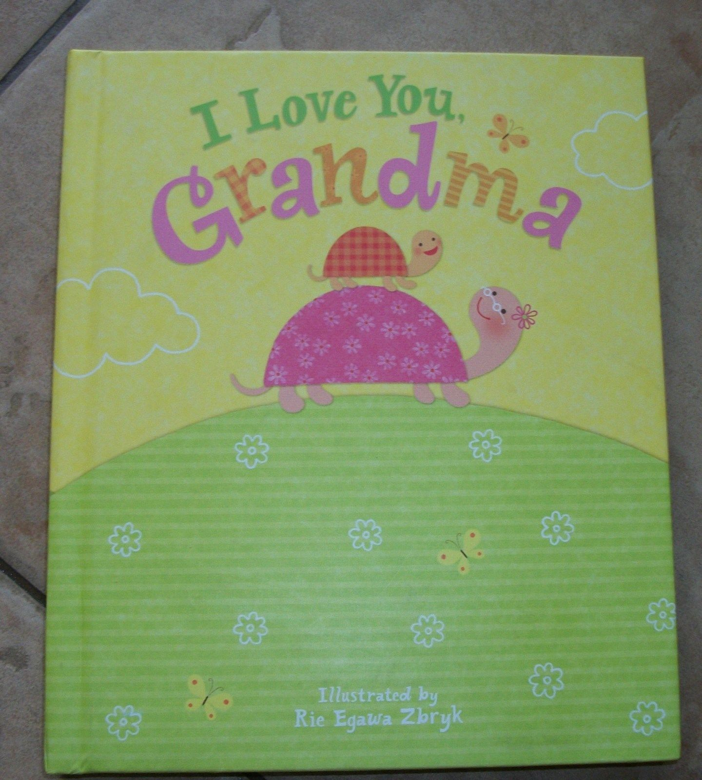 Childrens Book Educational I Love You Grandma Record Reading Electronic