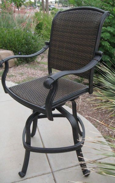 outdoor patio swivel bar stools Santa Clara Outdoor Patio Swivel Bar Stools Cast Aluminum
