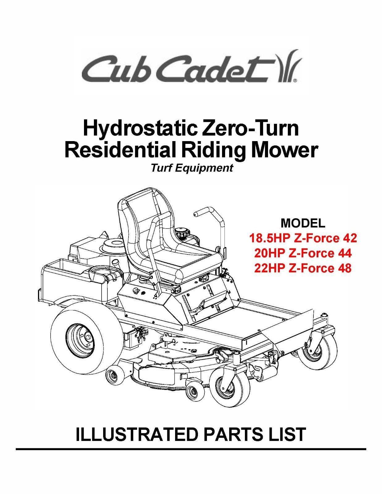Cub Cadet Hydrostatic Zeroturn Riding Mower And 47 Similar