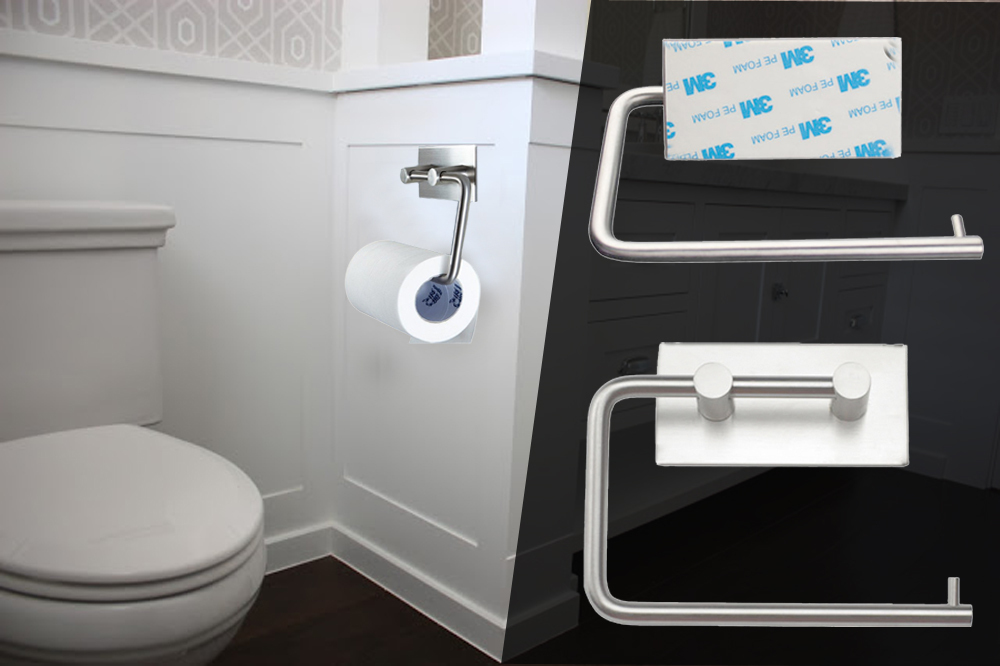 New Wall Mount Toilet Roll Paper Holder Bathroom Tissue