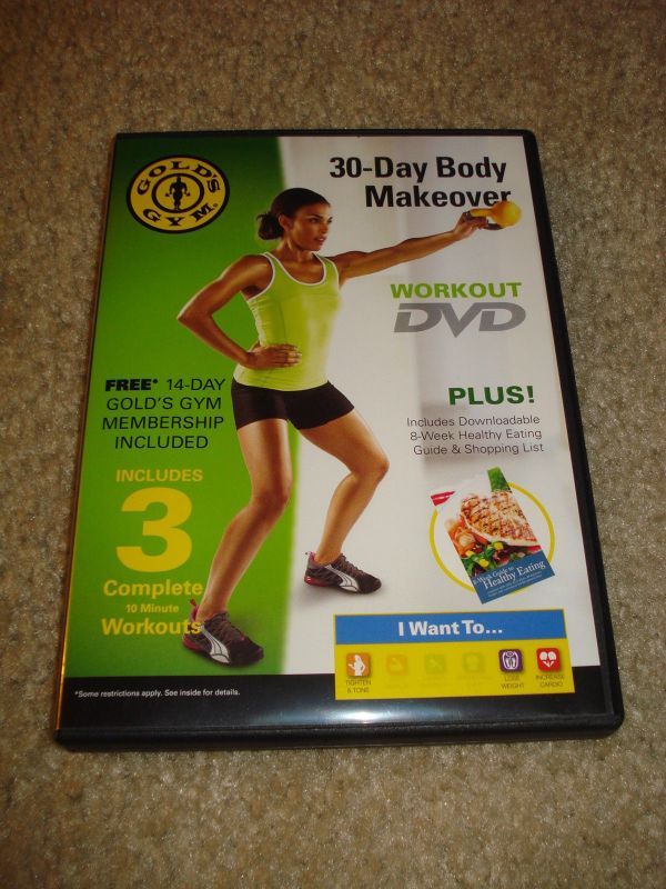 Gold's Gym 30 Day Body Makeover Workout Dvd and 50 similar ...