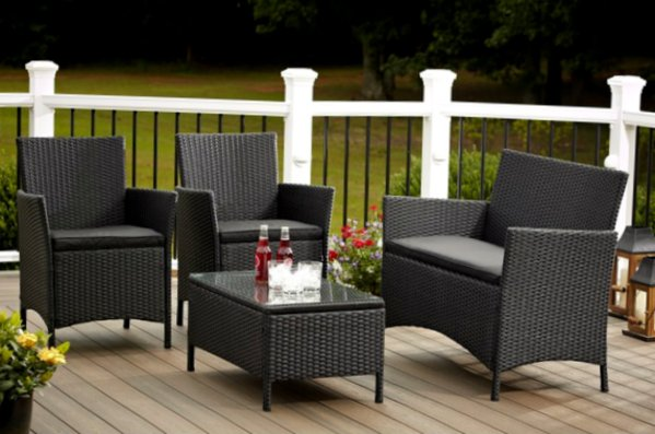 outdoor resin wicker patio furniture sets Outdoor Sofa and Chairs Furniture 4 piece Resin Wicker