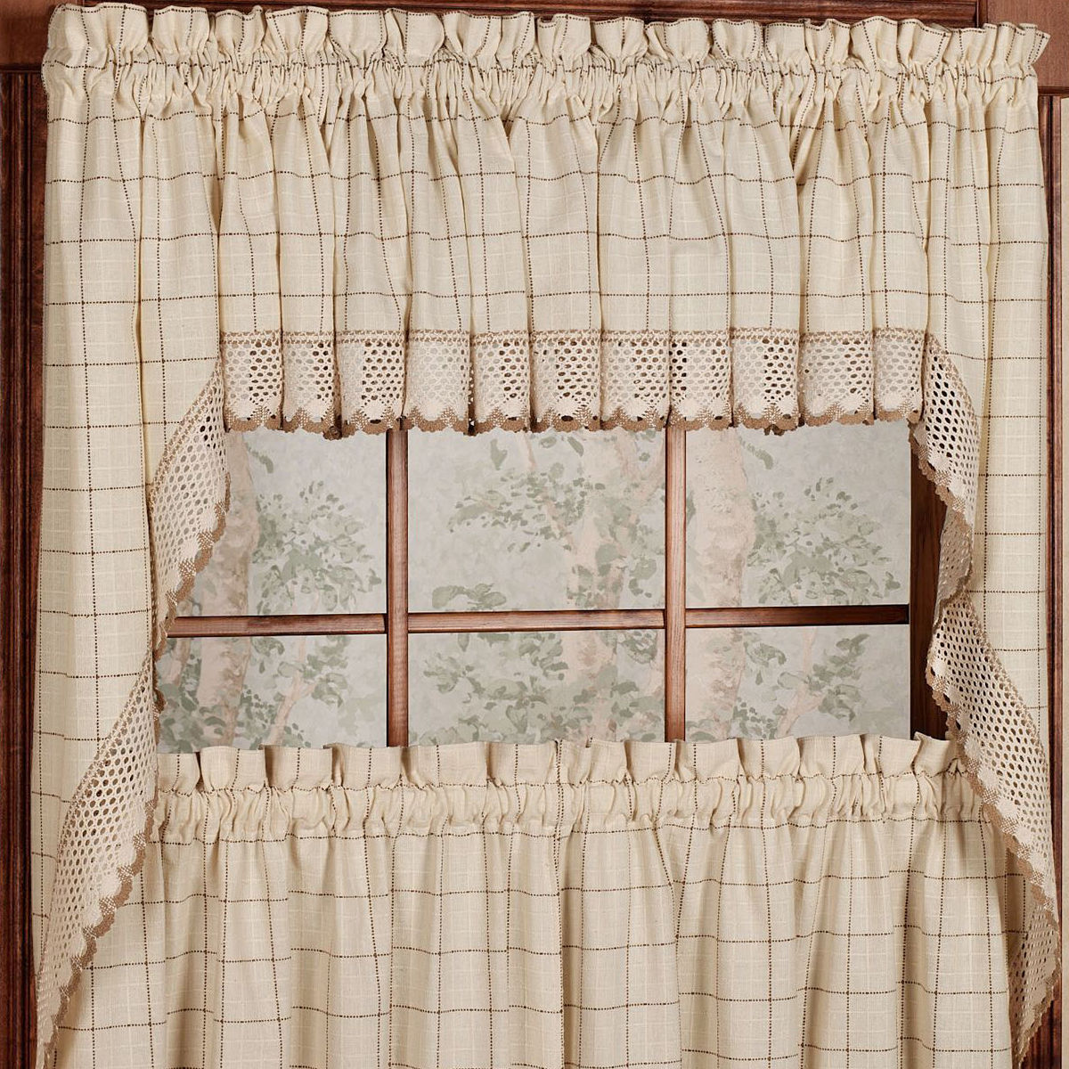 Adirondack Cotton Kitchen Window Curtains