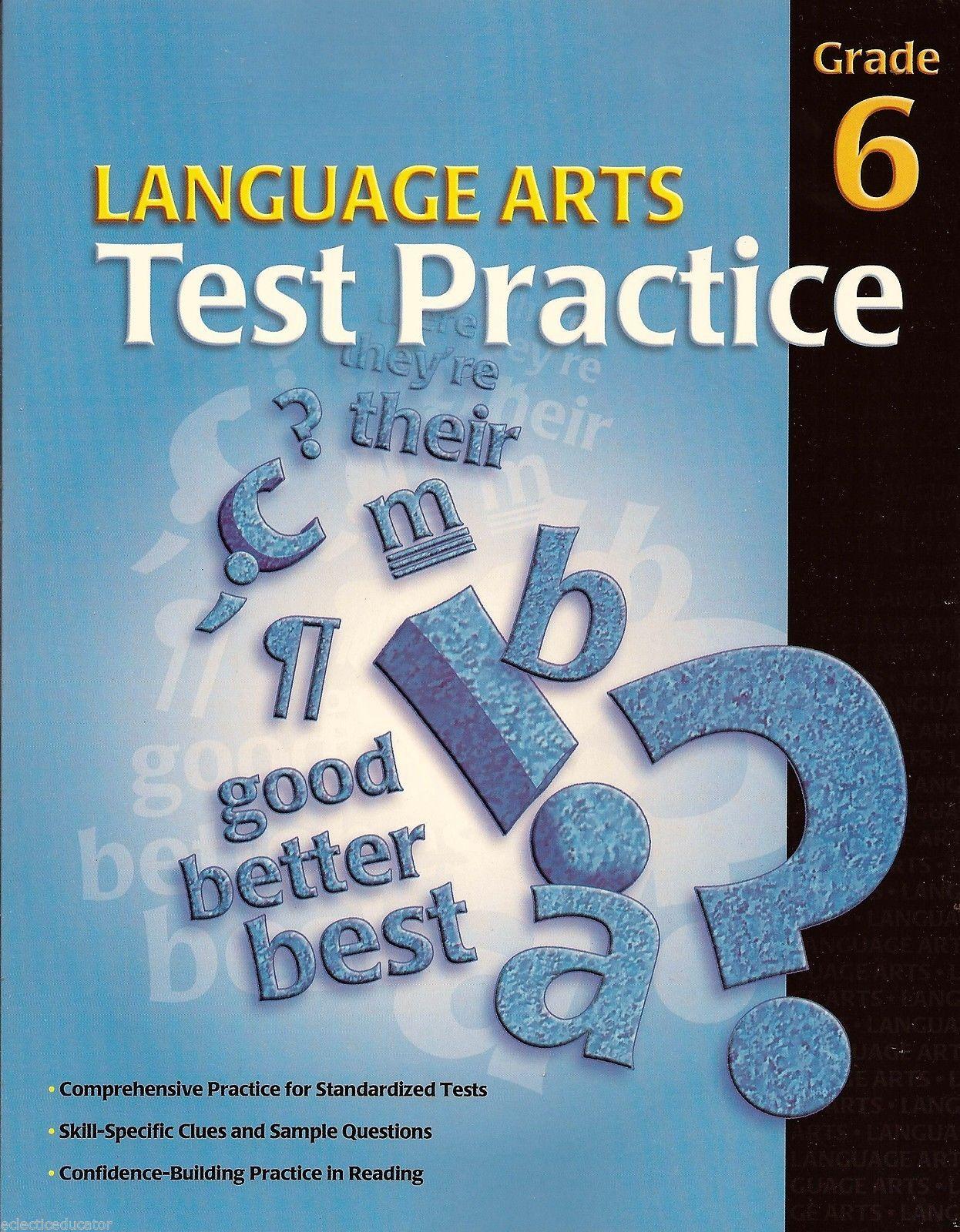 Language Arts Test Practice Grade 6 New School Specialty