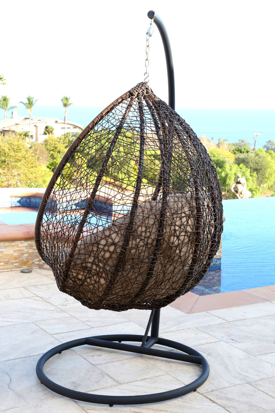 Swing Chair With Stand Hammock Hanging Porch Outdoor Patio