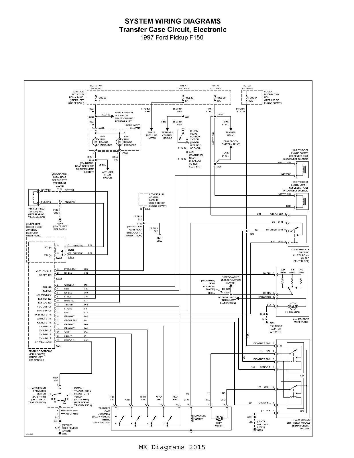 Ford F 150 97 Complete Wiring Diagram Schematic 4 2l