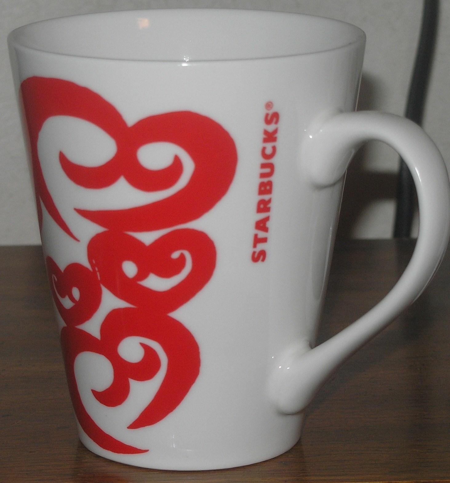 Starbucks 2016 White Amp Red Hearts Valentines Day Coffee