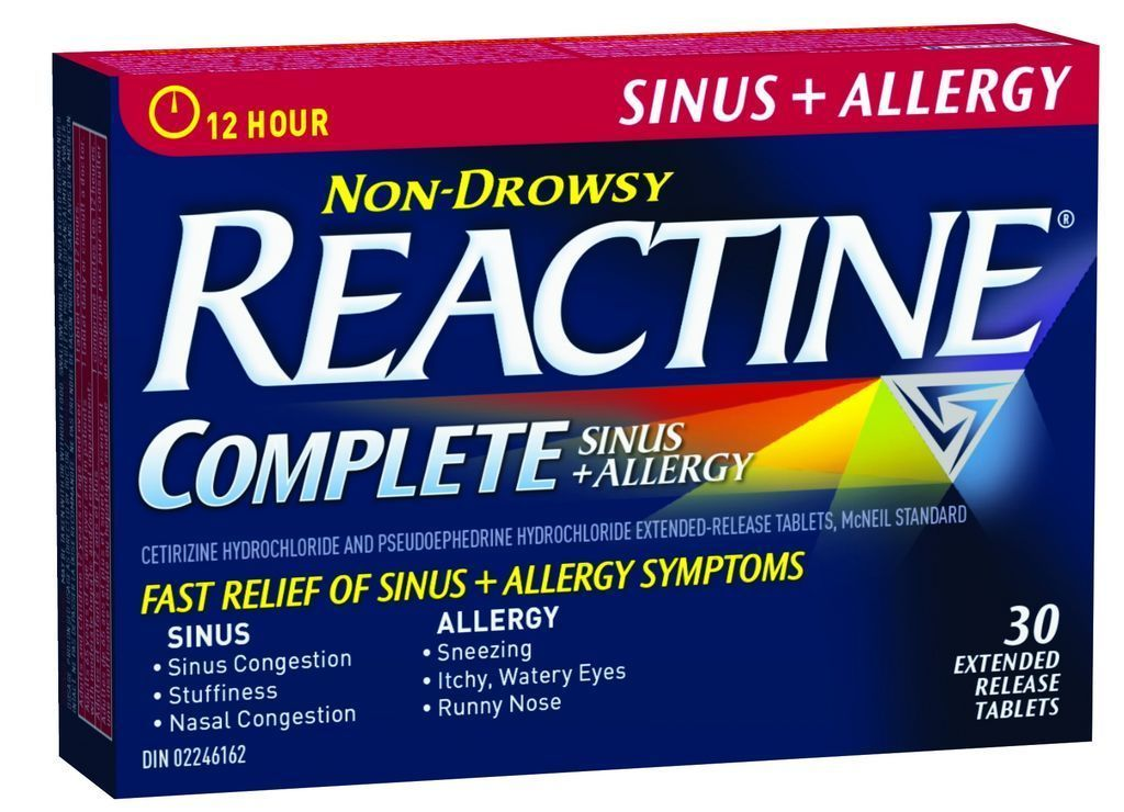 Image Result For Reactine Allergy And Sinus
