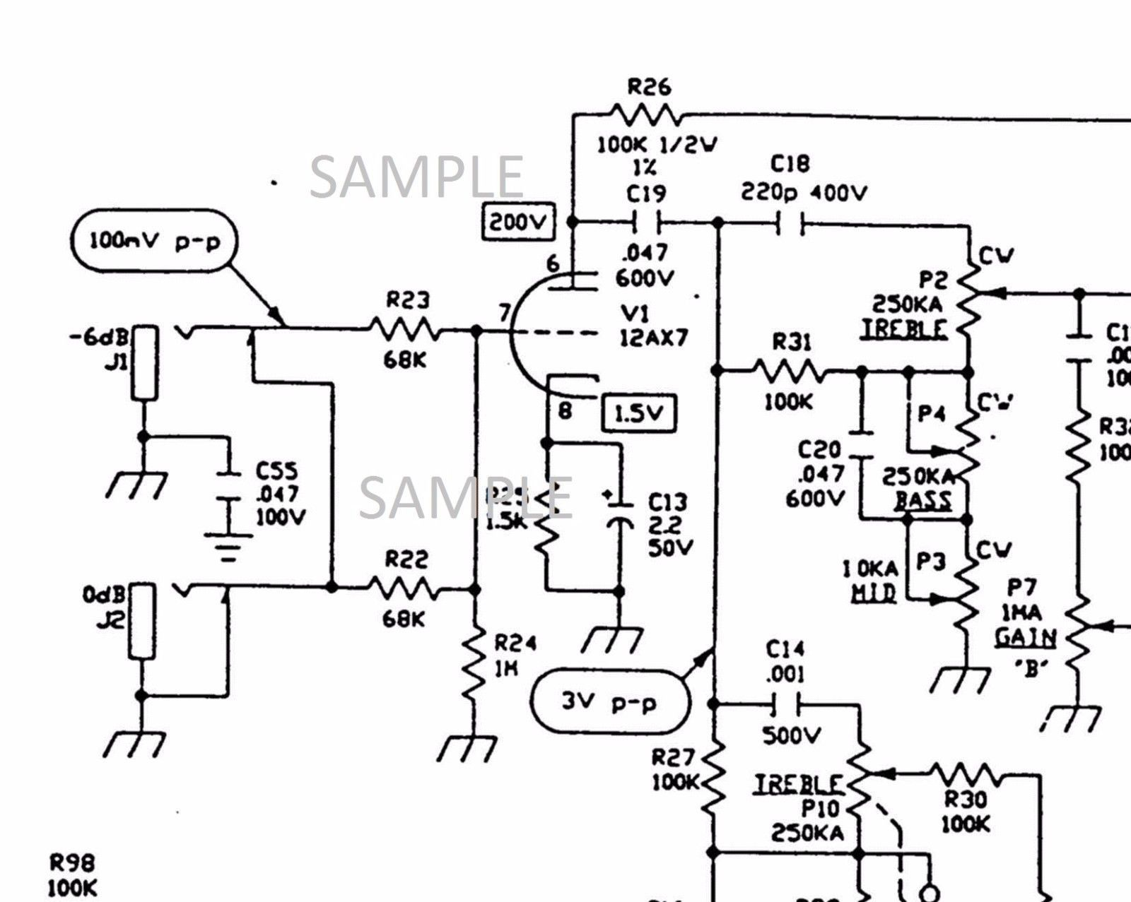 Vox Vt120 Tube Amplifier Circuit Diagram And 50 Similar Items