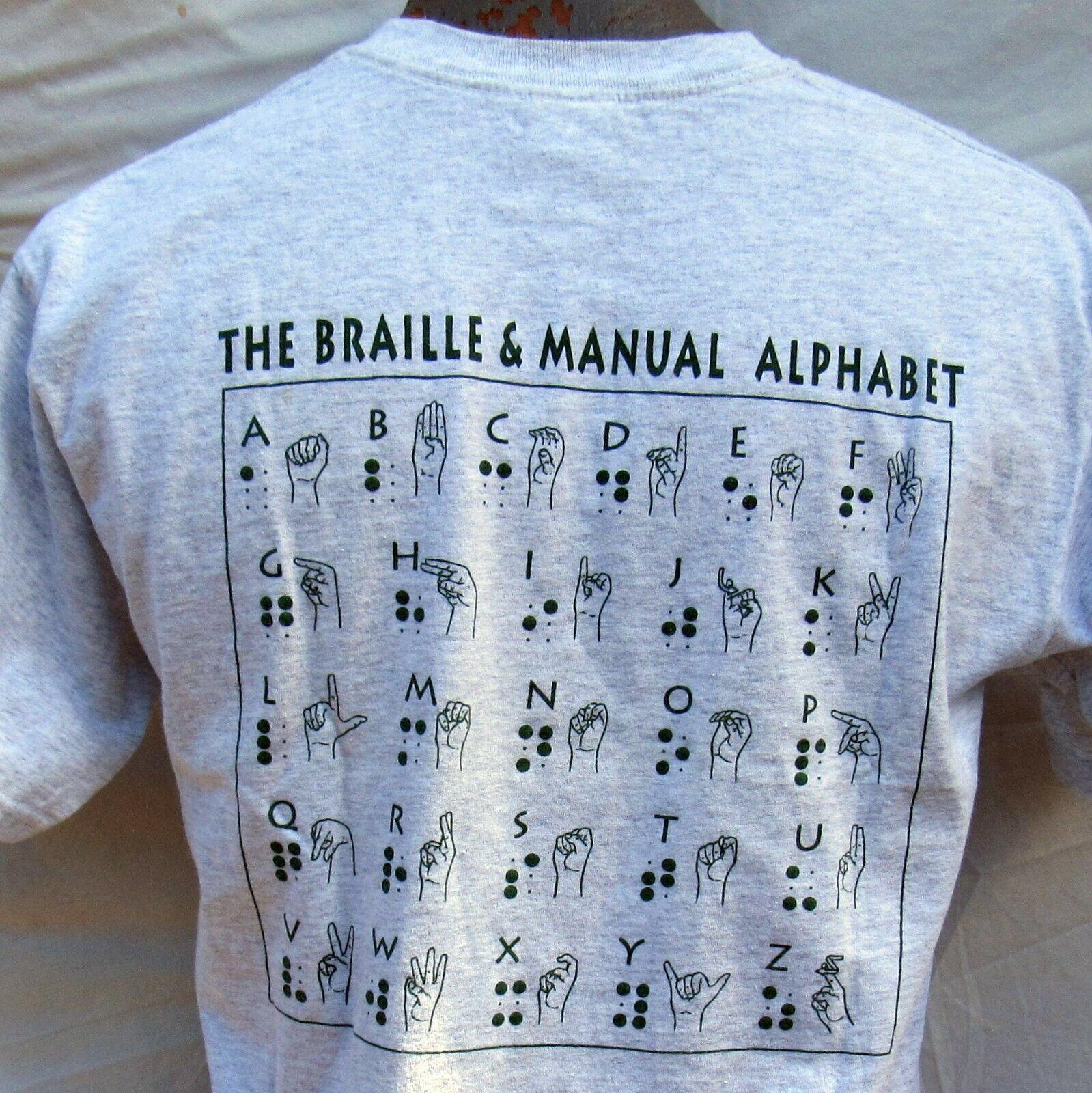 Sign Language Helen Keller Center T Shirt Size Medium