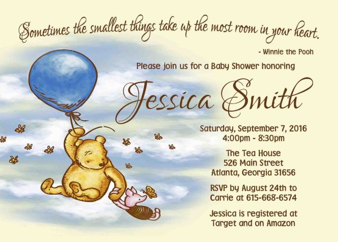 Winnie The Pooh Baby Shower Invitation And 50 Similar Items