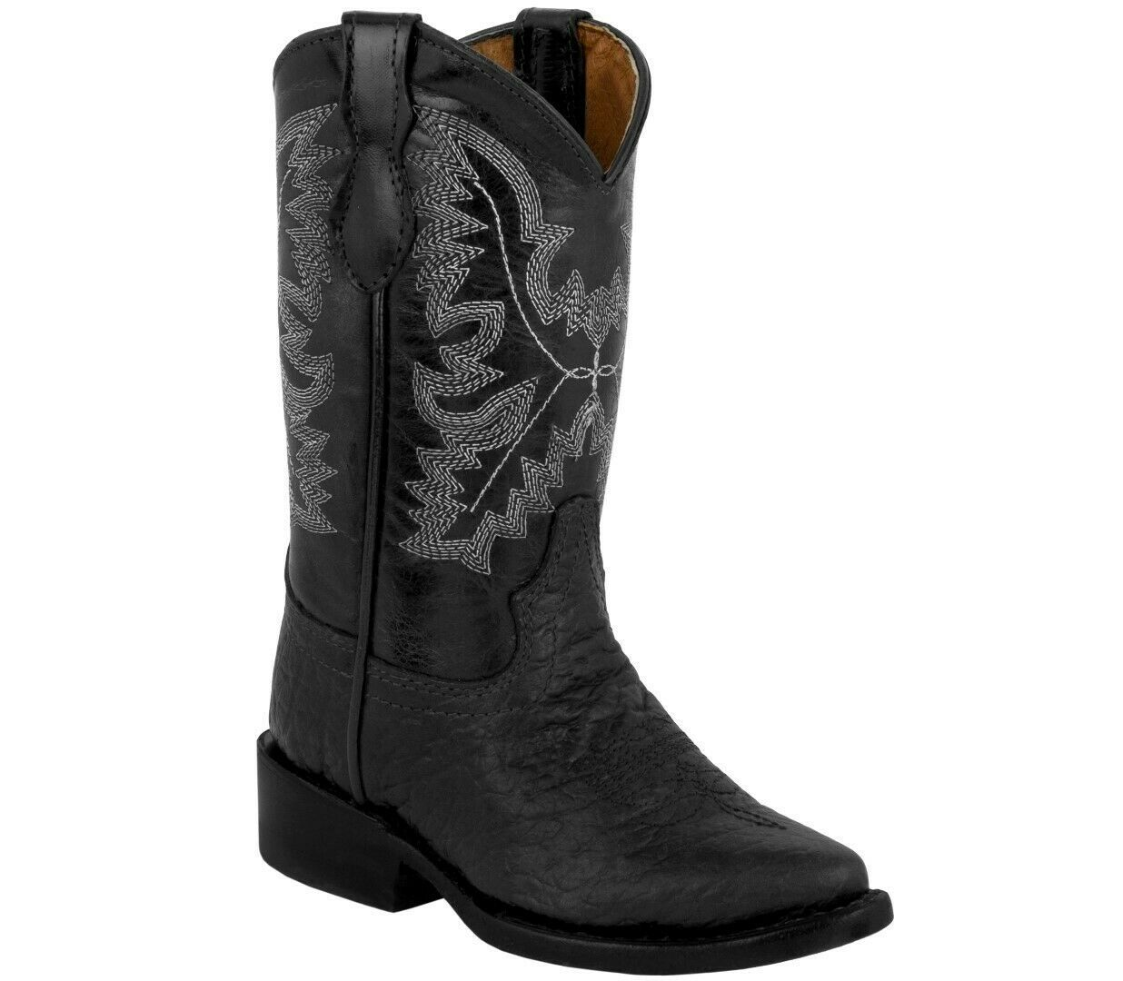 Kids Toddler Cowboy Boots Bull Buffalo Print And 50