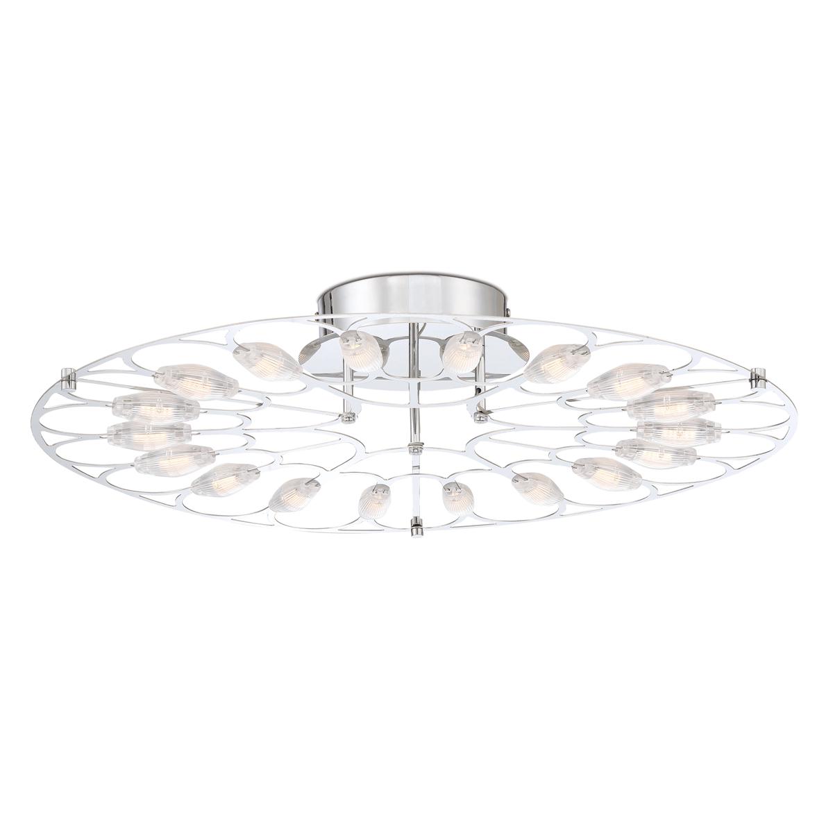 Bathroom Vanity 18 Light Bulb Fixture W Chrome Tone