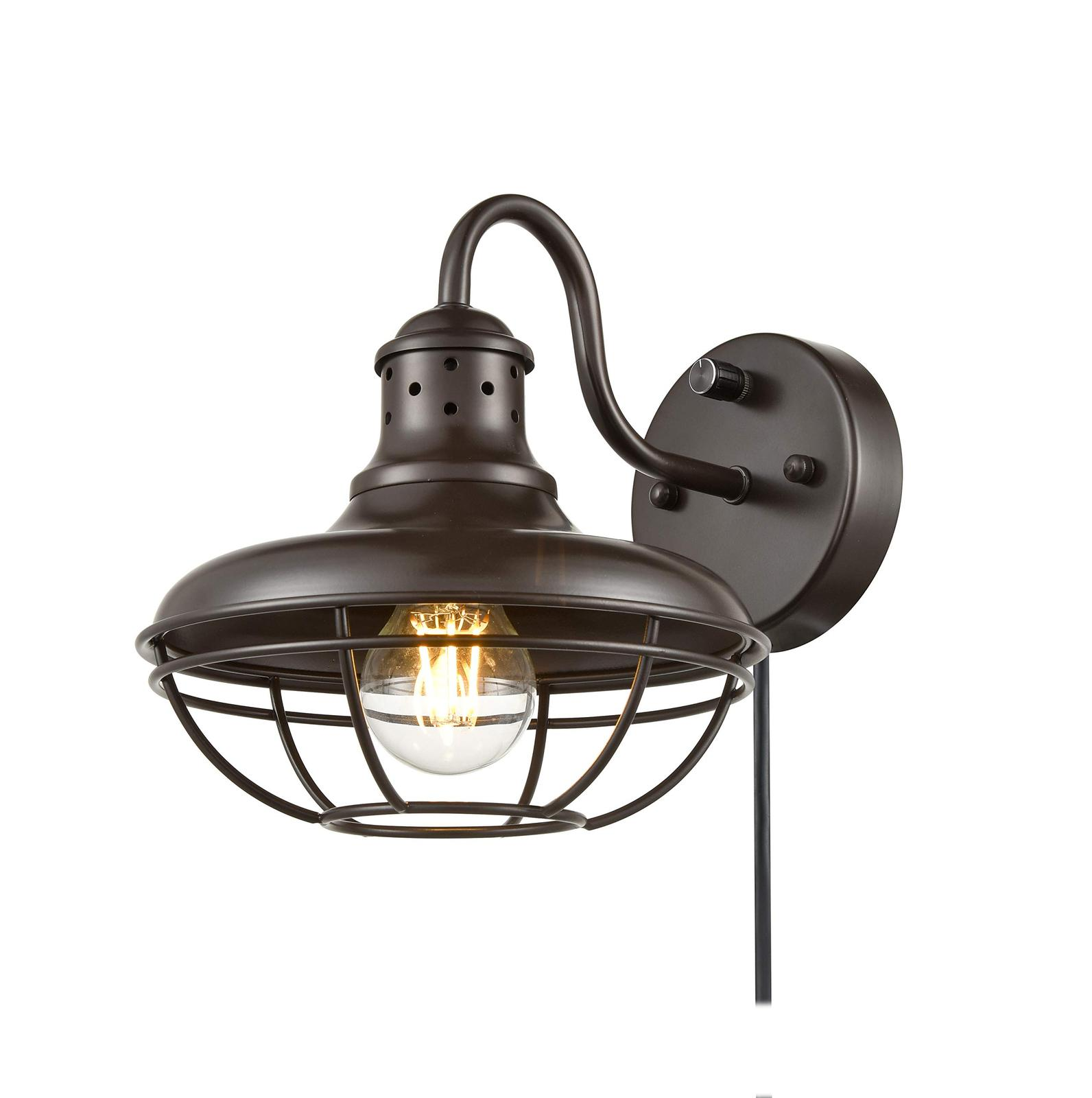 Dazhuan Industrial Plug-in Wall Sconce Light with On/Off ... on Plugin Wall Sconce Lights id=65663