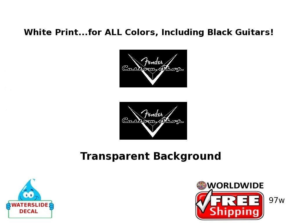 Fender Custom Shop Guitar Decal Inlay Headstock Sticker
