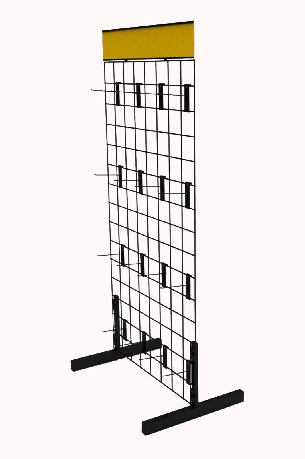 Gridwall Rack Metal Wire Floor Display Freestanding Grid