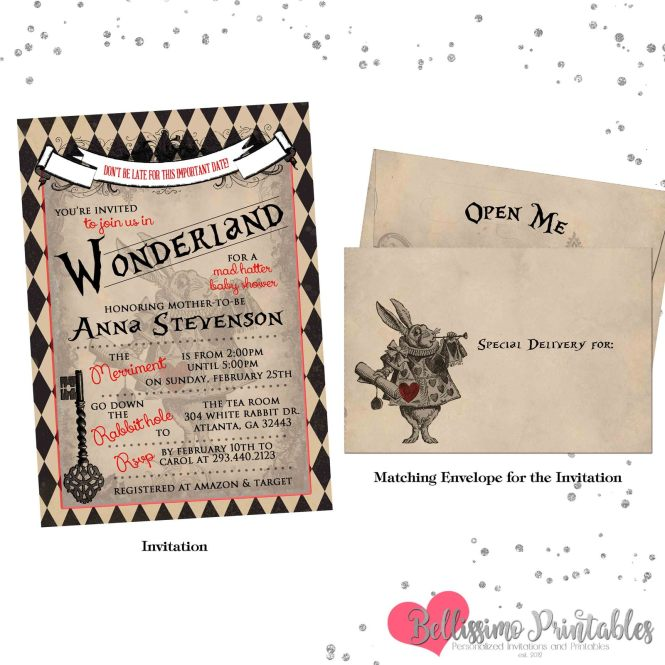 Vintage Alice In Wonderland Baby Shower And 50 Similar Items