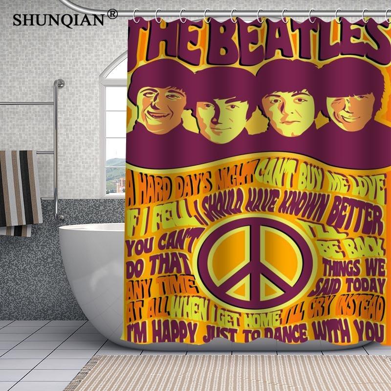the beatles waterproof custom shower