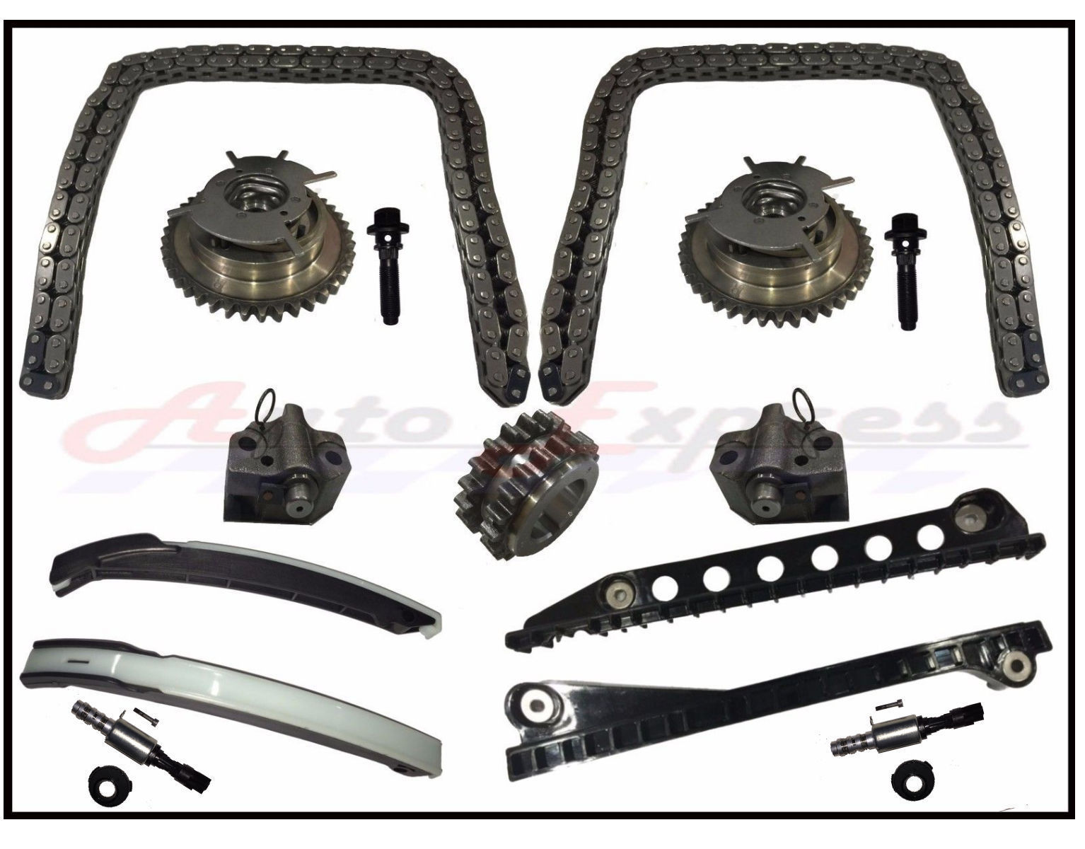 Timing Chain Kit Cam Phaser Vvt Valves 04 08 Ford F