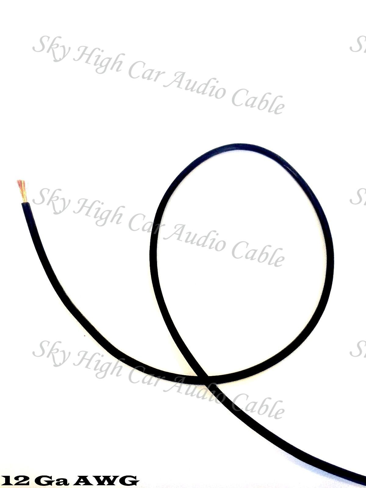 50 Ft 12 Gauge Awg Primary Remote Wire Black Sky High Car Audio Lead Ga Feet