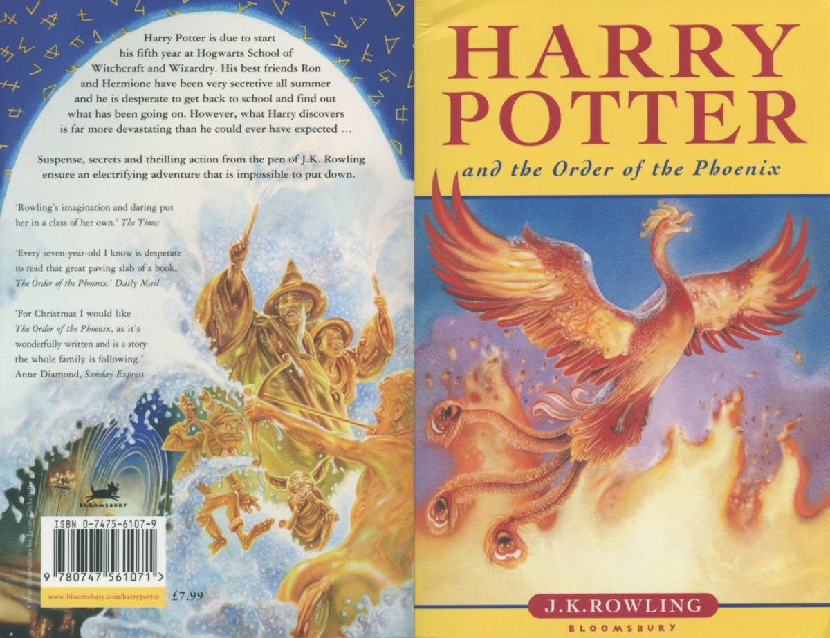 Book Phoenix Harry Order Rowling Potter Covers Jk