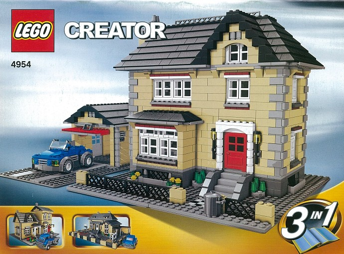 4954 1 Model Town House Brickset LEGO Set Guide And