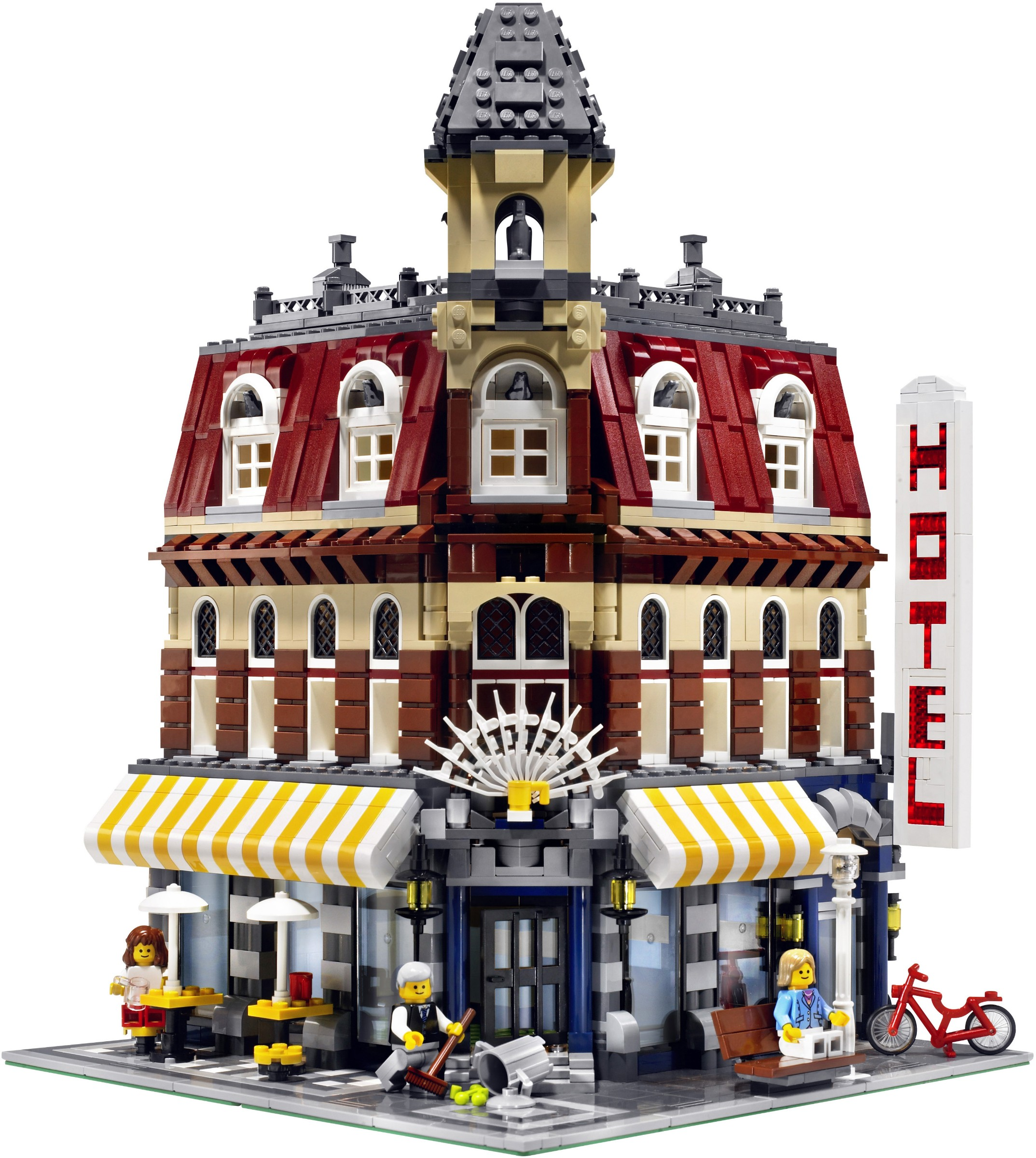 Advanced Models   Modular Buildings   Brickset  LEGO set guide and     Cafe Corner