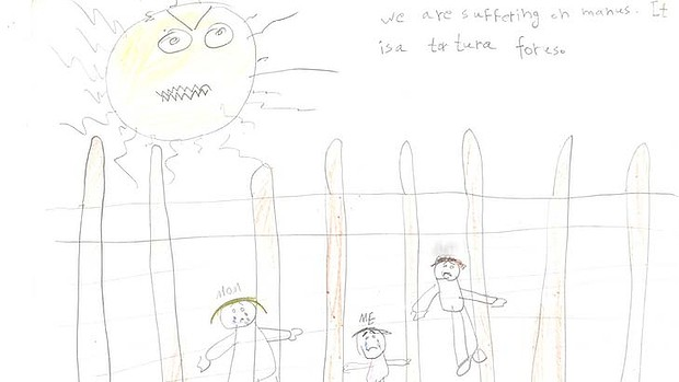 """We are suffering on Manus. It is a tortura for us."": The caption on a 10 year old Iranian girl's picture."
