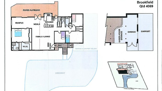 Layout of the Baden-Clay's home.