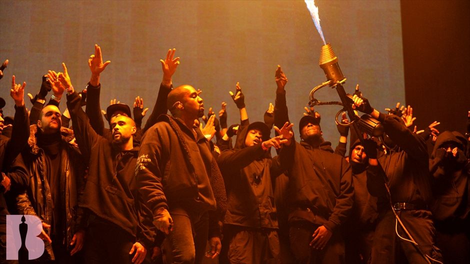 image of Kayne West performance at the Brit Awards 2015