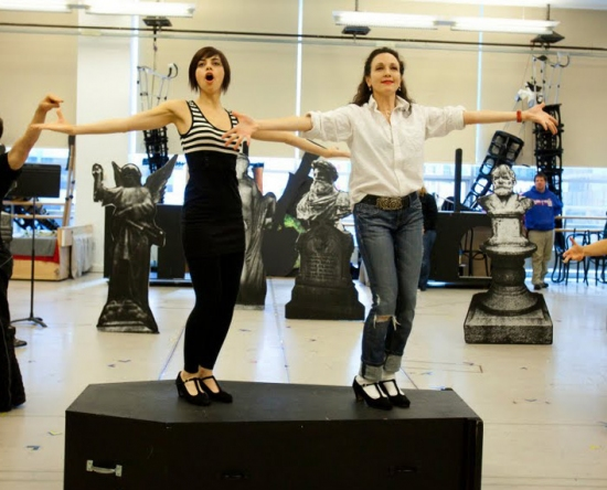 THE ADDAMS FAMILY in rehearsal