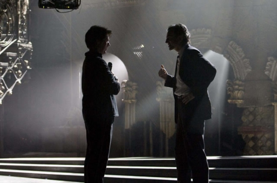 Rob Marshall and Daniel Day Lewis on the set of NINE.