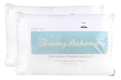 2 tommy bahama down alternative pillows