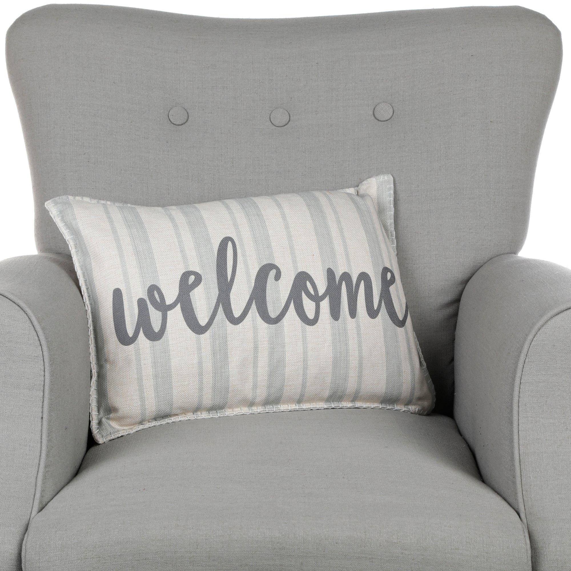 welcome throw pillow online