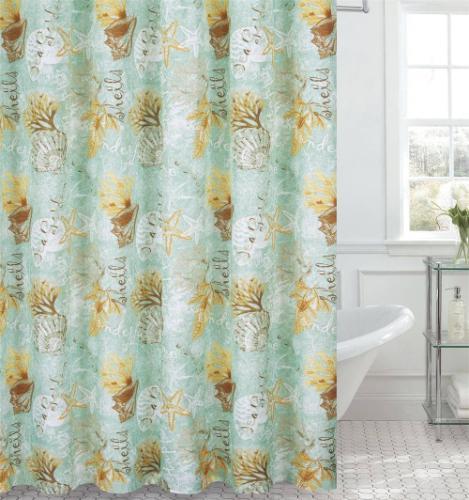 sea garden 72x72 shower curtain