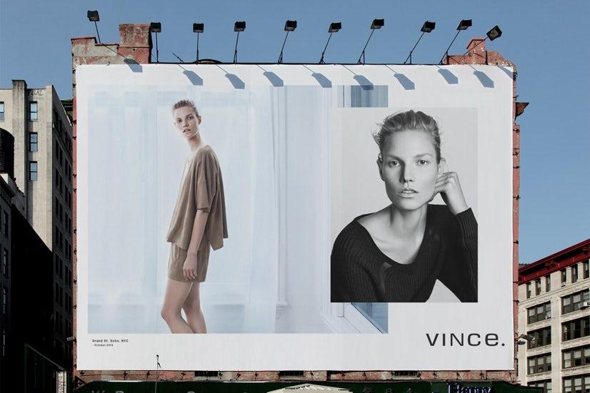Vince Spring 2014 advertising | Source: Vince