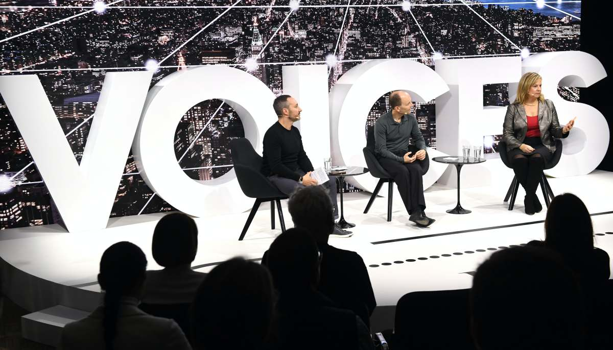 Brad Grossman, William Webb and Mary Clark speak during #BoFVOICES | Source: Getty Images for The Business of Fashion