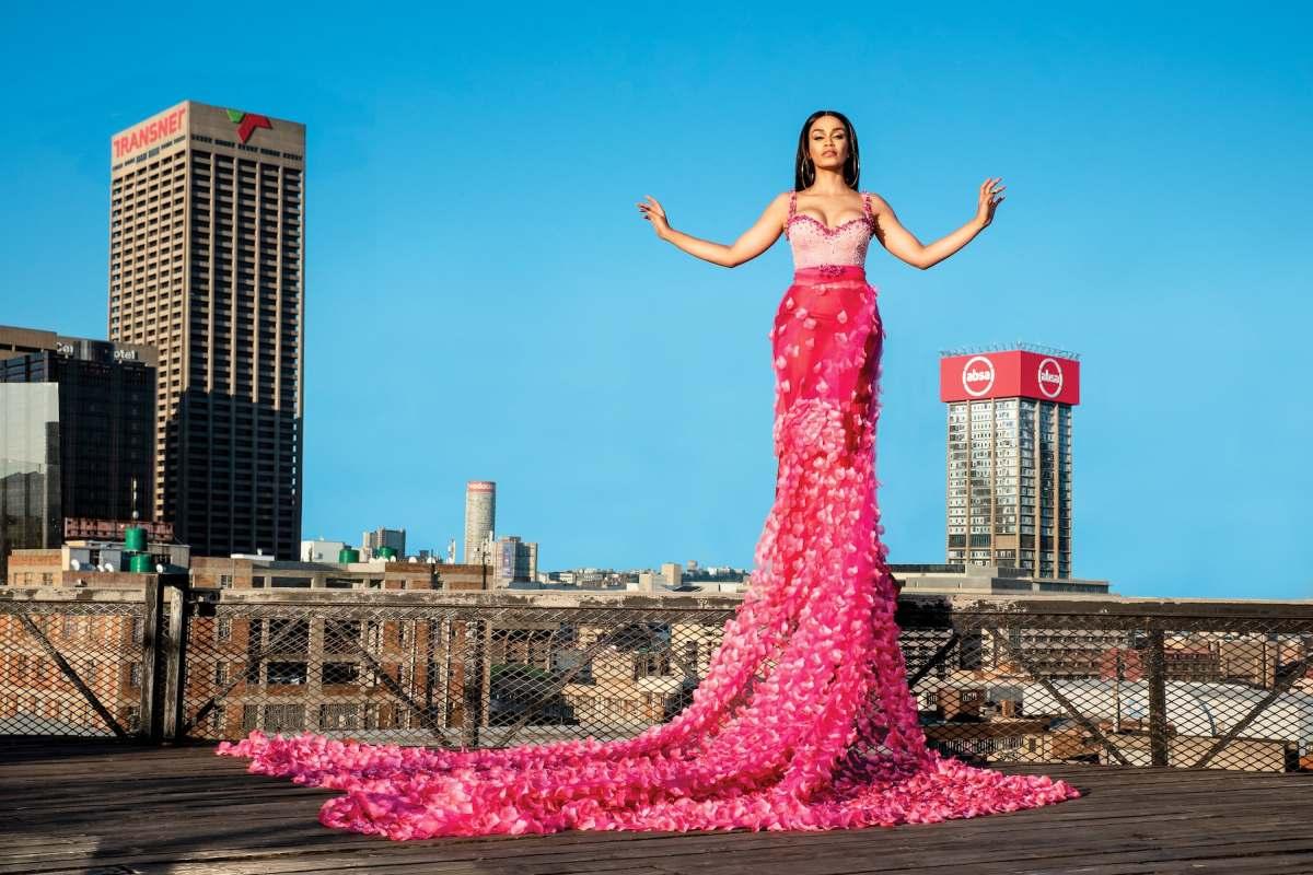 Cosmopolitan South Africa fashion editorial featuring Pearl Thusi   Photo: Legae Sehlako