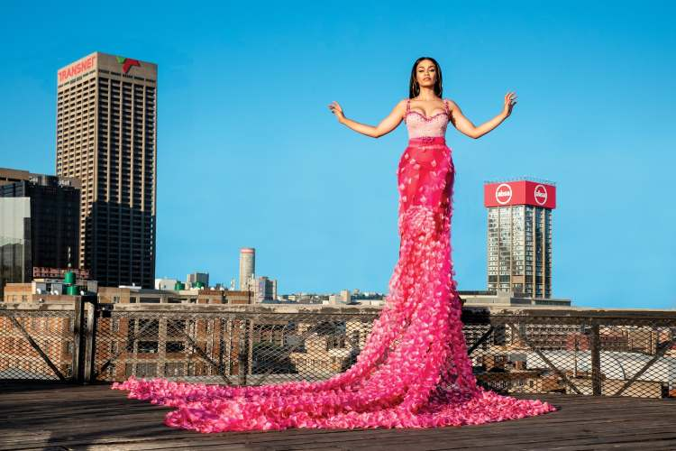 Cosmopolitan South Africa fashion editorial featuring Pearl Thusi | Photo: Legae Sehlako