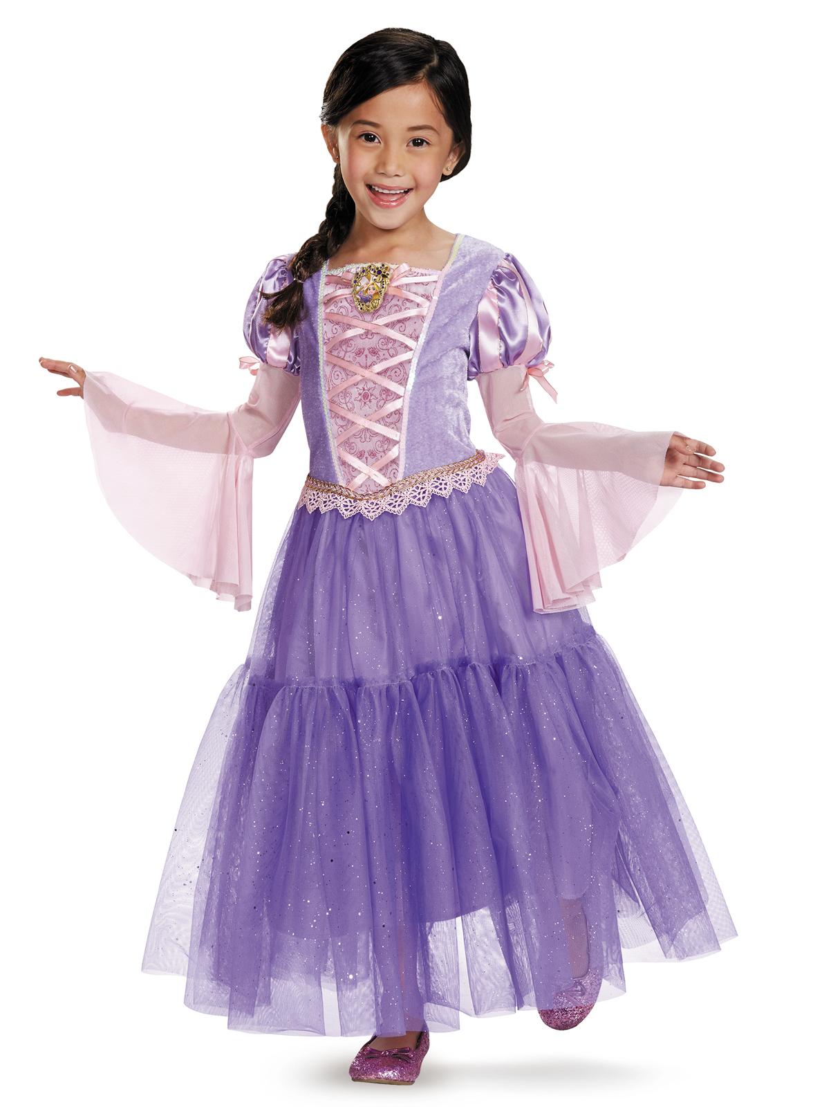 Tangled - Rapunzel Lameacute Deluxe Toddler / Child Costume