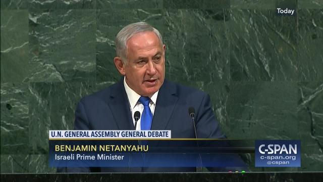 Image result for Netanyahu Responds to UN 'Absurdities' on Israel: 'It's Called the Bible. I Highly Recommend It'