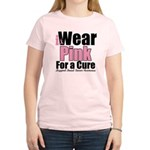 I Wear Pink For a Cure Women's Light T-Shirt