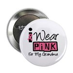 "I Wear Pink Ribbon 2.25"" Button (10 pack)"