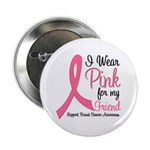 "Breast Cancer (Friend) 2.25"" Button"