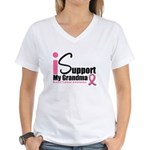Breast Cancer Support Women's V-Neck T-Shirt